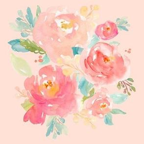 Floral Sweet Pastel in Pink