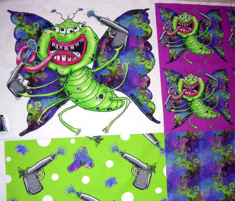Butterflies are Free(ky)! coordinates on one yard, violet green white purple