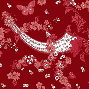 Imma Toile in deep Cranberry