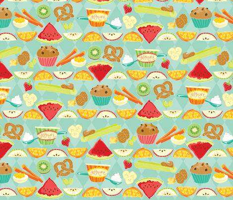 Simple Snacks fabric by creativetaylor on Spoonflower - custom fabric