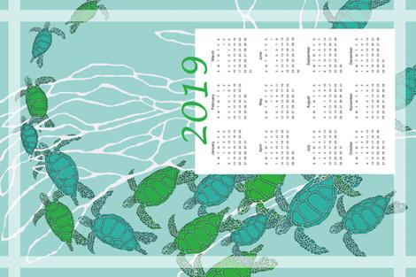 2019 Sea Turtle Towel in Bright Caribbean Colors fabric by lauriekentdesigns on Spoonflower - custom fabric