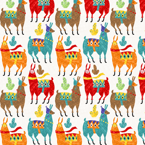llamas-colors fabric by gaiamarfurt on Spoonflower - custom fabric