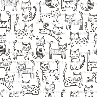 Cats with Stripes Black&White