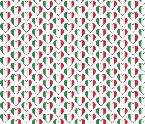 Italian Flag Hearts fabric by jessdunc8403 on Spoonflower - custom fabric