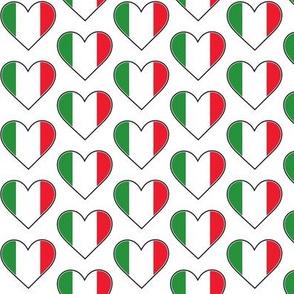 Italian Flag Hearts
