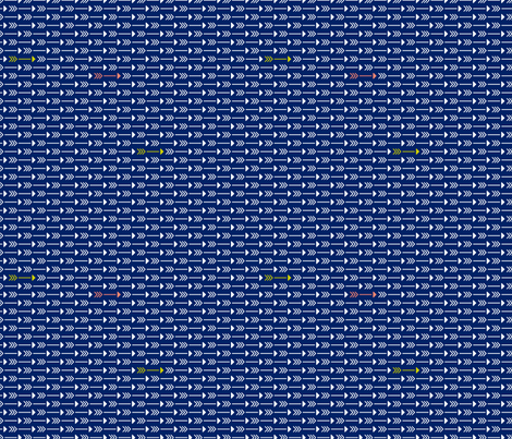 Tiny Arrows Navy fabric by khubbs on Spoonflower - custom fabric