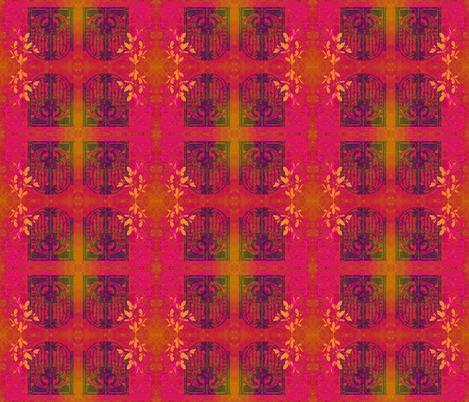 Purple Gates in Pink fabric by guylas_coastal_creations on Spoonflower - custom fabric
