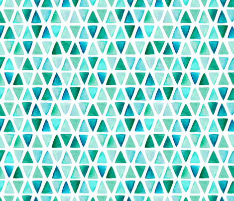 Watercolor Triangles fabric by dinaramay on Spoonflower - custom fabric