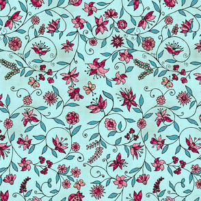 Little flowers (light blue )