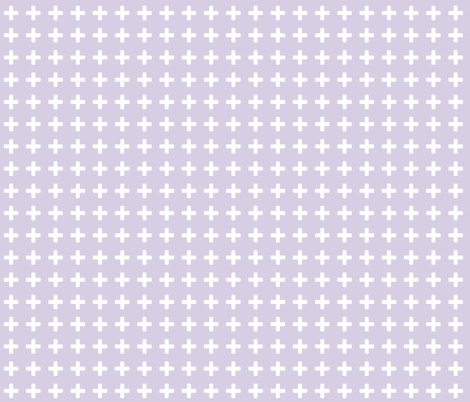 White Cross Lavender fabric by brainsarepretty on Spoonflower - custom fabric