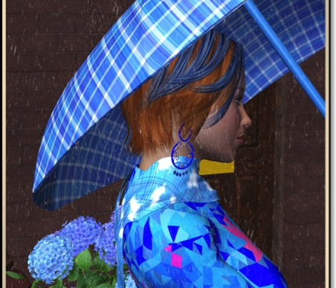 Small Scale Blue and White Plaid
