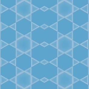 Blue Diamonds Geometric