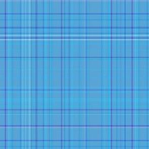 Subtle Blue Plaid