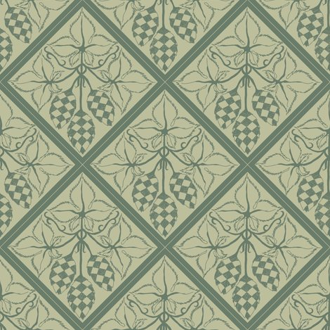 Rrrtile_repeat_45_deg_diamond_shape_dark_green_more_shaded_hops_outline_on_pale_green_bg__shop_preview