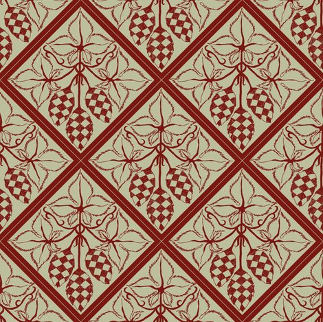 Rrtile_repeat_45_deg_diamond_shape_red_more_shaded_hops_outline_on_pale_green_bg__shop_preview