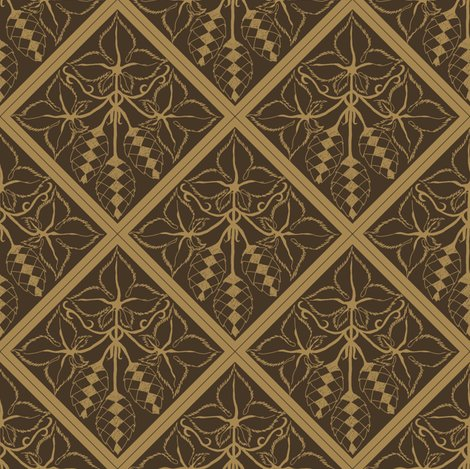 Rrtile_repeat_45_deg_diamond_shape_mustard_outline_on_dk_brown_bg__shop_preview