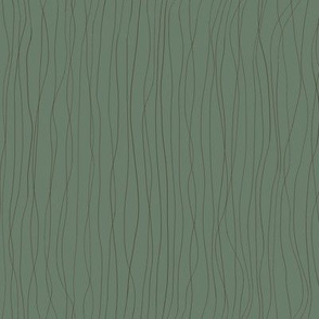 'Trails left in the Dew' brown lines on dark green BG