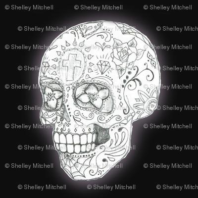 Sugar Skull Sketch in black smaller