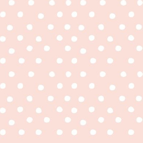 White dots on pink