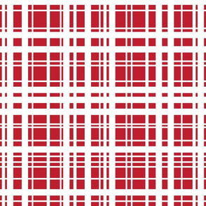 Milk & Cookies plaid - red/white