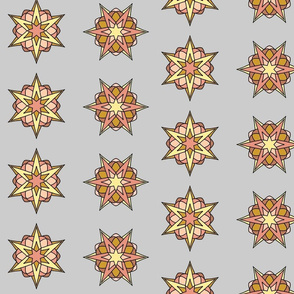 Atomic Stars (peach palegray)