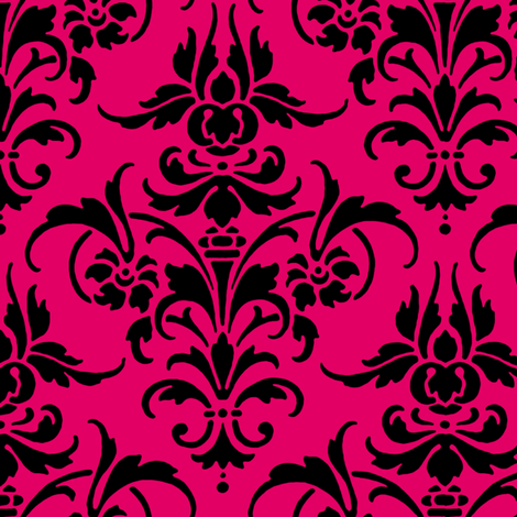 Verushka Damask  fabric by peacoquettedesigns on Spoonflower - custom fabric