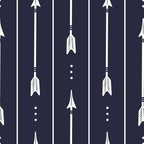 Navy Arrows and Stripes