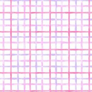 Grid - pink, purple & blue