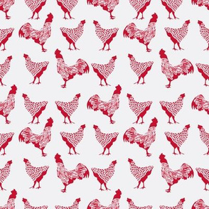 Chicken Red on White