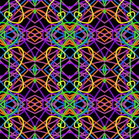 NeonStrings Butterflied fabric by joonmoon on Spoonflower - custom fabric