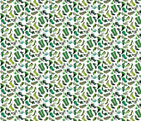 Green_shoes_too fabric by alschapiro on Spoonflower - custom fabric
