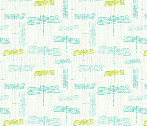 dragonflies_white_cools-01 fabric by teresamagnuson on Spoonflower - custom fabric