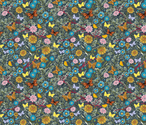 Butterfly Chintz fabric by vinpauld on Spoonflower - custom fabric