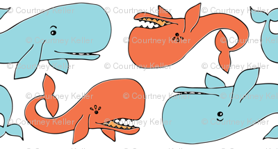 Whale Tail BlueOrange