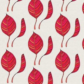 Leaves in Pinks