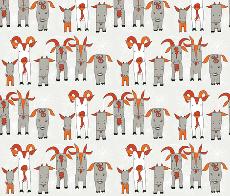 My Favorite Goats fabric by onelittleprintshop on Spoonflower - custom fabric