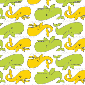 Whale Tail in YellowGreen