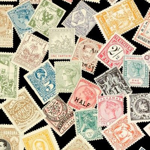 Late 19th Century Stamps ~ Black