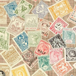 Late 19th Century Stamps ~ Persephone Linen Luxe