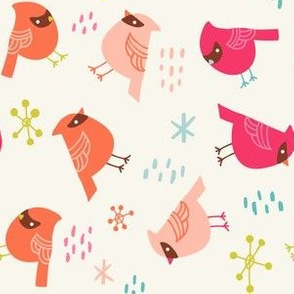 white birds cardinal