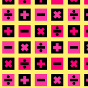 Math Squares-yellow