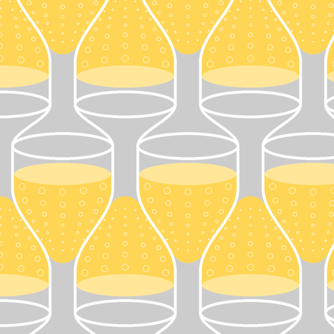 stacking wine-glasses : white sparkling fabric by sef on Spoonflower - custom fabric