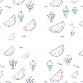 Grapes & Watermelon Gelato