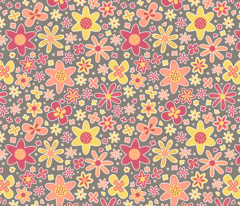Floral Dance (Autumn) fabric by brendazapotosky on Spoonflower - custom fabric