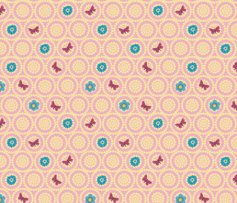 Butterfly Circles fabric by vinpauld on Spoonflower - custom fabric