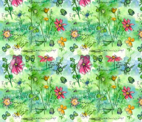 Garden Notes  fabric by countrygarden on Spoonflower - custom fabric