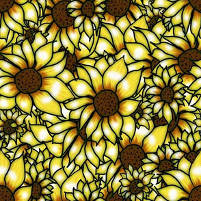 GLASS SUNFLOWERS PATTERN