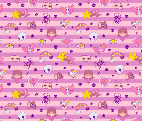 Creepy Cute fabric by miranema on Spoonflower - custom fabric