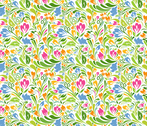 Colorful Floral Pattern fabric by ksanask on Spoonflower - custom fabric