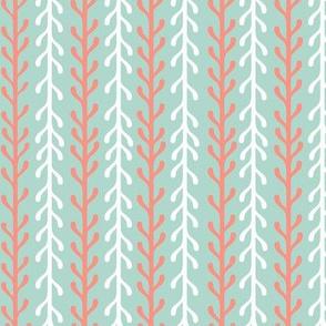 Kelp Ribbon Stripe in Orange & White